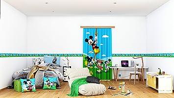 Amazon.de: AG Design - Selbstklebende Bordüre - Disney Mickey Mouse ...