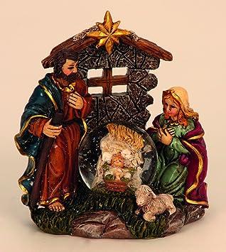 Boule A Neige Creche De Noel Avec Figurines De Josef Maria Jesus