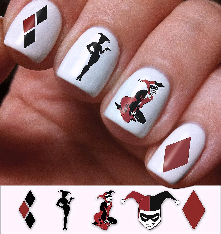 Beautiful Easy Harley Quinn Nails Illustration - Nail Art Ideas ...