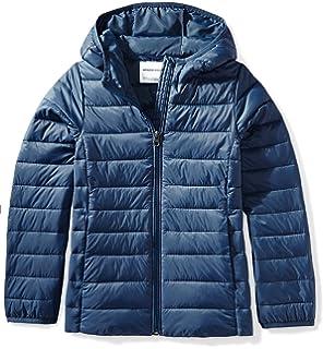 8112856058 Amazon Essentials Girls' Lightweight Water-Resistant Packable Hooded Puffer  Jacket