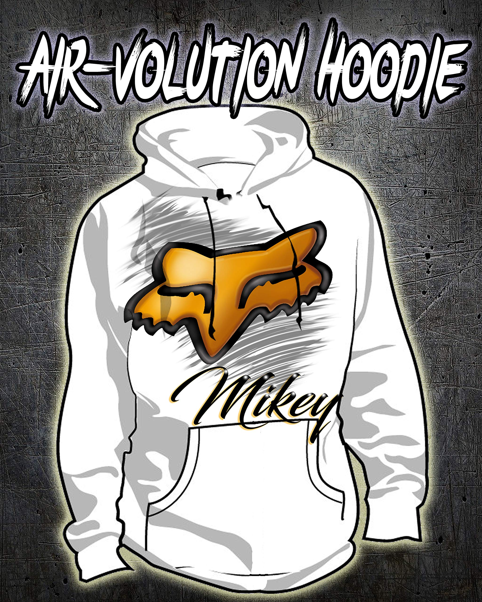 Personalized Airbrush Fox Hoodie by Mythic Airbrush