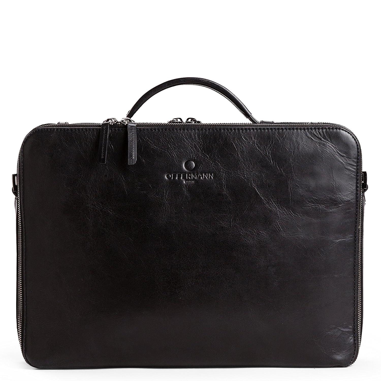 c05607be09b4c OFFERMANN Ledertasche Businesstasche Workbag M als Aktentasche und  Umhängetasche schwarz  Amazon.de  Koffer