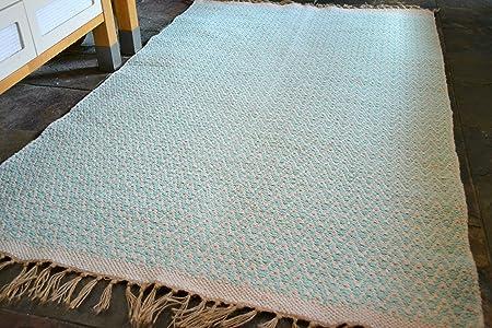 Rugsite Alfombra de Pasillo de algodón Natural con Flecos de Yute ...