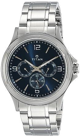 0af298ae775 Buy Titan Analog Blue Dial Men's Watch-NK1698SM02 Online at Low ...