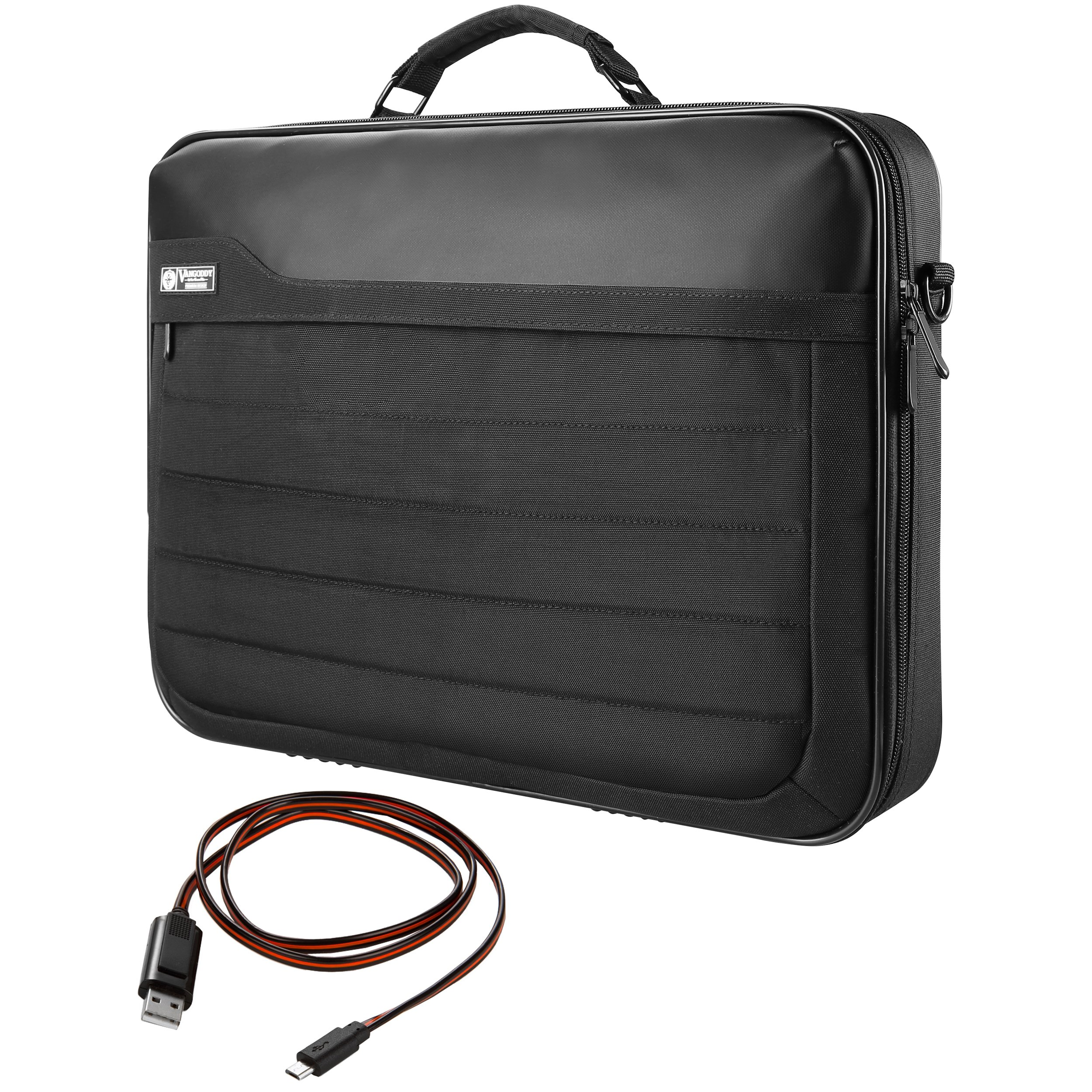 VanGoddy Trovo Rugged Nylon Hybrid Crossbody Bag Briefcase for 10.1'' to 13.3'' Samsung ATIV Book 9 12.2'' | Galaxy Tab A 10.1'' | TabPro S 12'' + Sync and Charge Cable