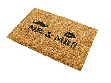Mr /& Mrs 1art1/® Humour Paillasson Essuie-Pieds 70 x 40 cm
