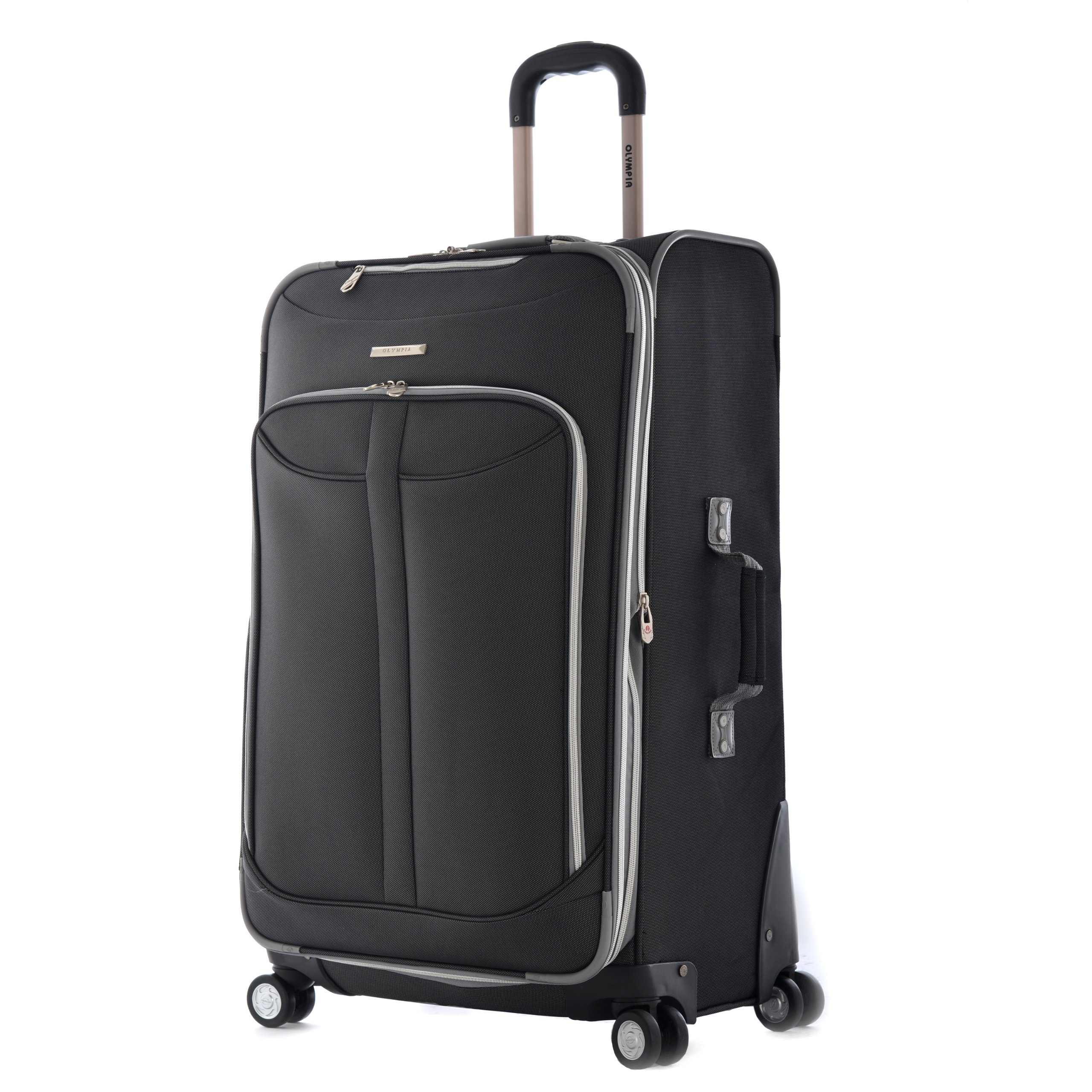 Olympia Luggage  Tuscany 30 Inch Expandable Vertical Rolling Luggage Case,Black,One Size by Olympia