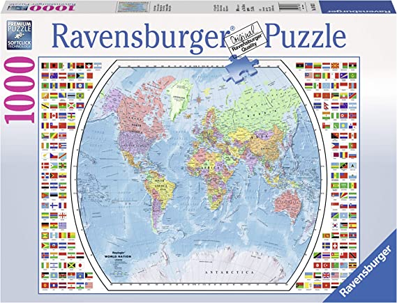 1000 Pieces World Map Jigsaw Puzzle Difficult Intellectual For Kids Adult T9Z0