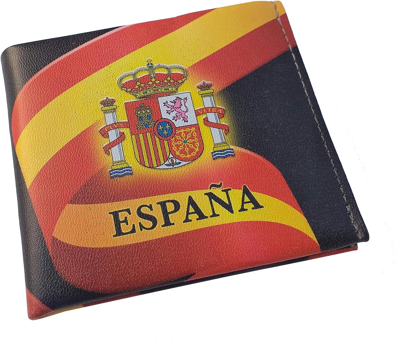 Cartera Impresa con Billetera Bandera de España, Fotografias 3D: Amazon.es: Equipaje