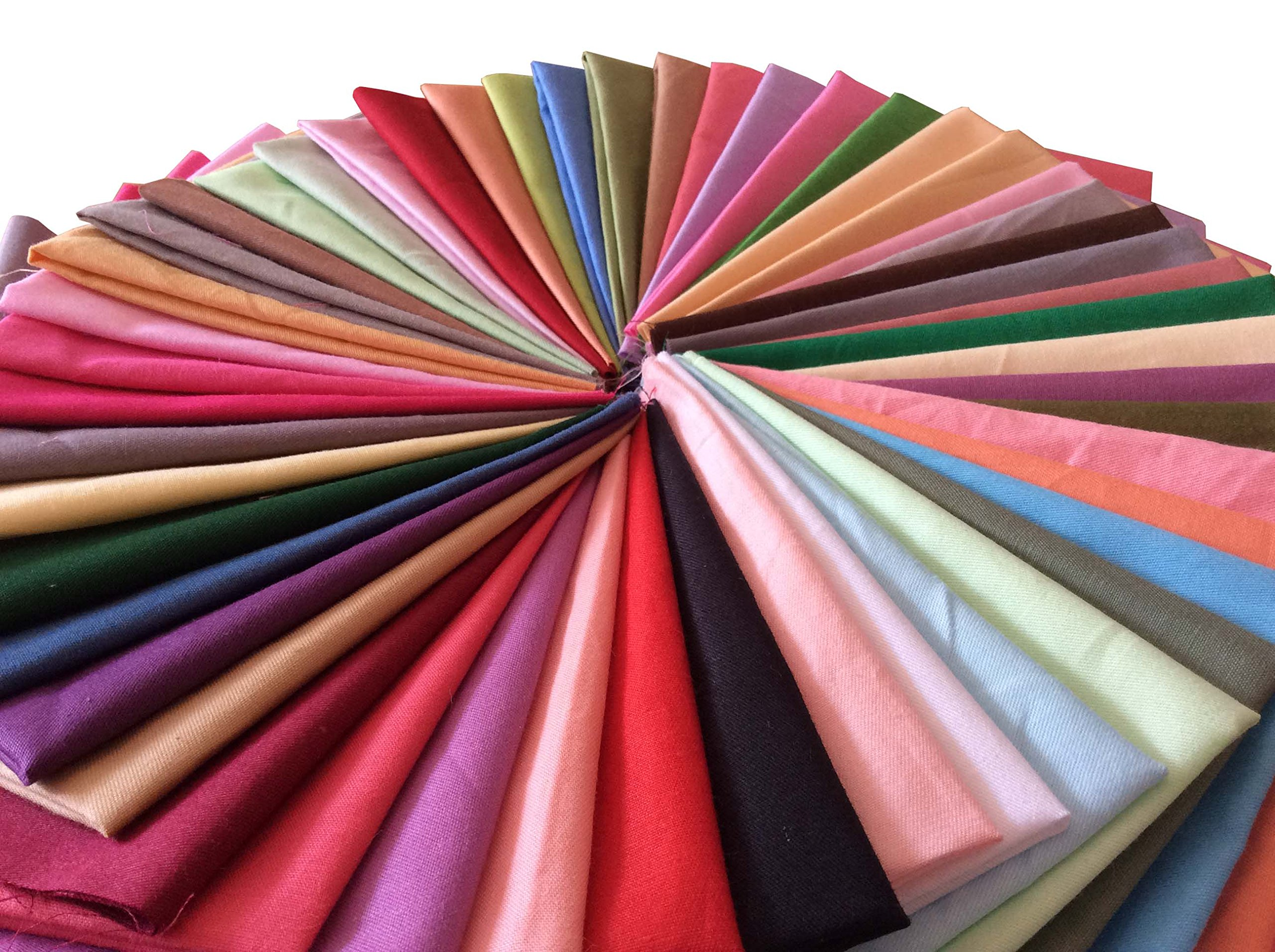 longshine-us 25pcs Solid Colors Premium Cotton Craft Fabric Bundle Squares Patchwork Lint DIY Sewing Scrapbooking Quilting Dot Pattern Artcraft (10'' x 10'') by longshine-us (Image #6)