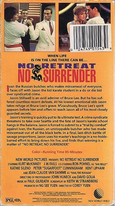 No Retreat, No Surrender [VHS]: Amazon.es: Kurt McKinney ...
