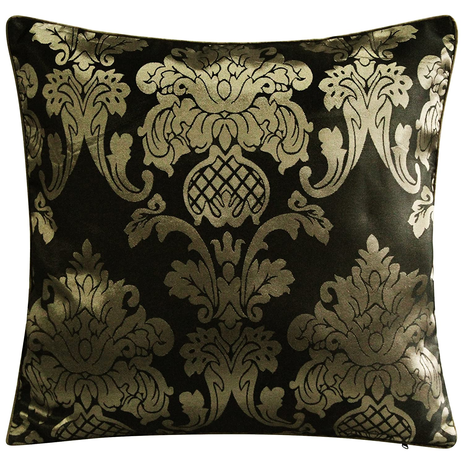 Apachi 2 Pieces CUSHION COVERS SET Set - BLACK/GOLD Brandstock24