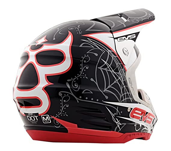 Amazon.com: EVS Sports Vortek T5 Luchador Helmet (Black, Large): Automotive