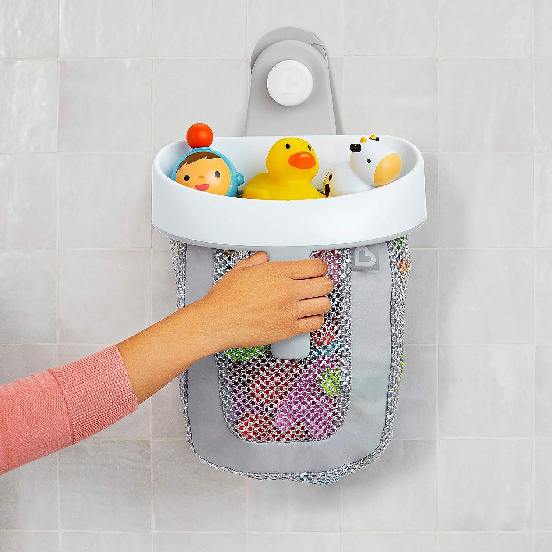 Munchkin Hanging Bath Toy Storage with Quick Drying Mesh Grey
