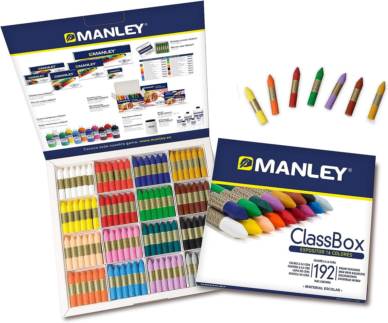 Manley MNC00002/192 - Ceras, 192 unidades: Amazon.es: Oficina y papelería