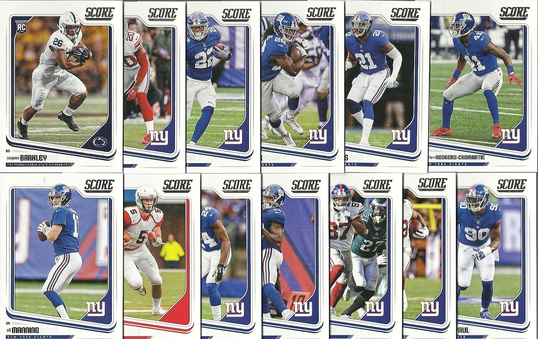 sports shoes 3654d d002e 2018 Panini Score (11) Card New York Giants Team Set W ...