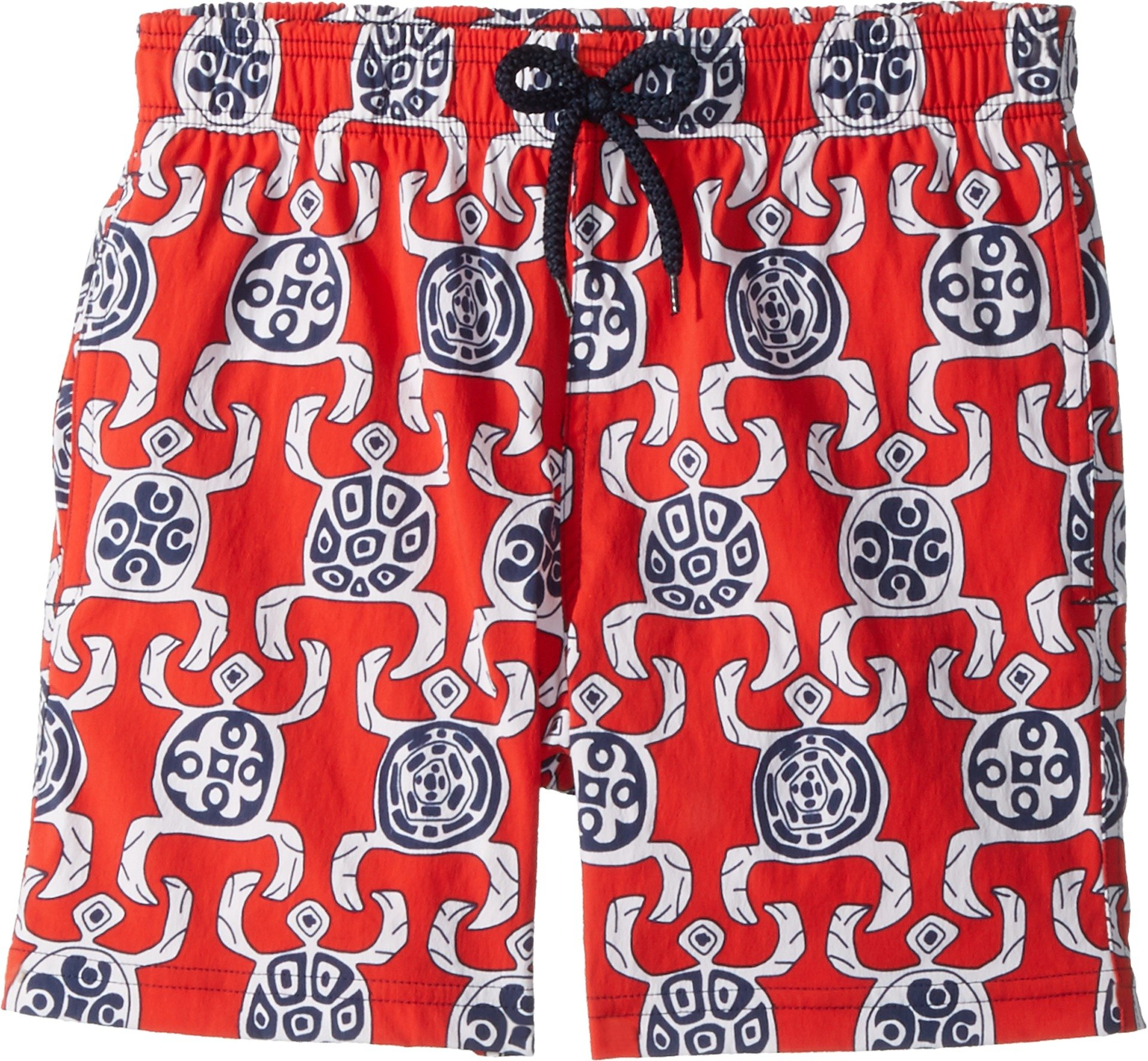 Vilebrequin Kids Boy's Primitive Turtles Swim Trunk (Big Kids) Red 14 Years