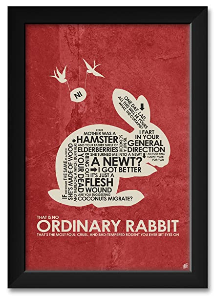 080d90574 Monty Python, Holy Grail, That is NO Ordinary Rabbit Framed Art Print by  Stephen