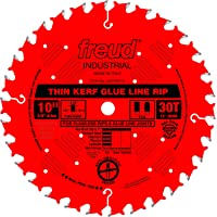 Amazon.com deals on Freud 10-in x 30T Thin Kerf Glue Line Ripping Blade LM75R010