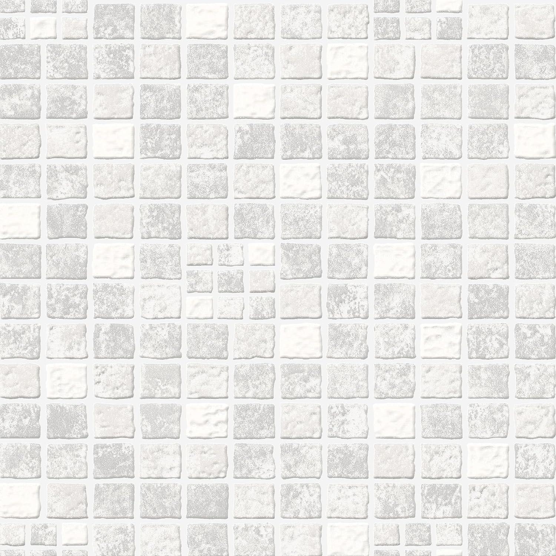 Contour Mid Grey Earthen Wallpaper
