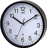 Unidad 20 cm / 8 pulgadas Radcliffe Radio Controlados reloj de pared, negro