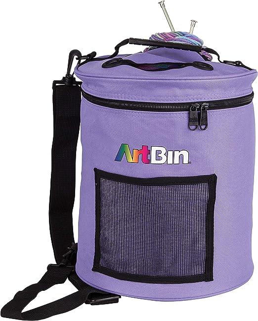 Artbin Yarn Drum Storage tote Bag for wool skeins knitting in periwinkle blue