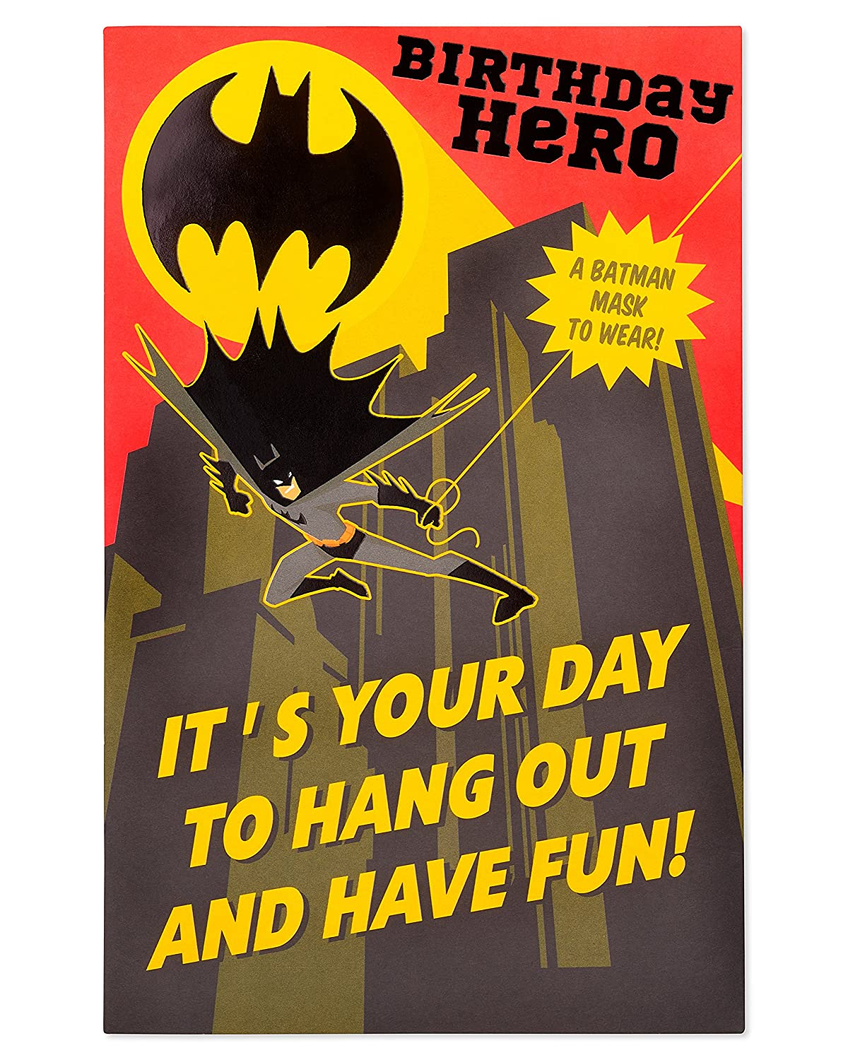 Tarjetas de cumpleaños, color Batman Hero Birthday Card for ...