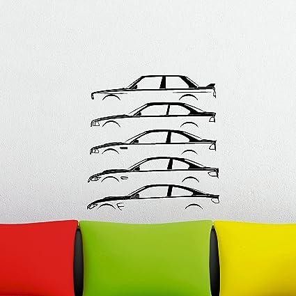 Turnerco Car Silhouette History Wall Sticker M3 E30 E36