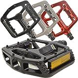 "Lumintrail PD-895B Big Foot MTB BMX Aluminum Platform Bike Pedals 9/16"" Spindle"