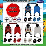 Disney Little Boys Mickey Mouse Hat and 2 Pair