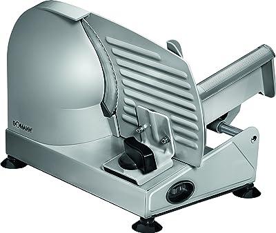 Bomann MA 451 CB - Cortafiambres de acero inoxidable, corte ajustable, disco corte 19 cm, 150 W