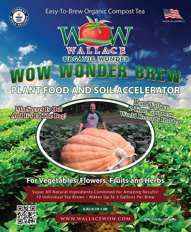 Wallace orgánico pregunto, pregunto Brew 80 G Compost bolsitas de té (10 – 80 g bolsitas de té): Amazon.es: Jardín