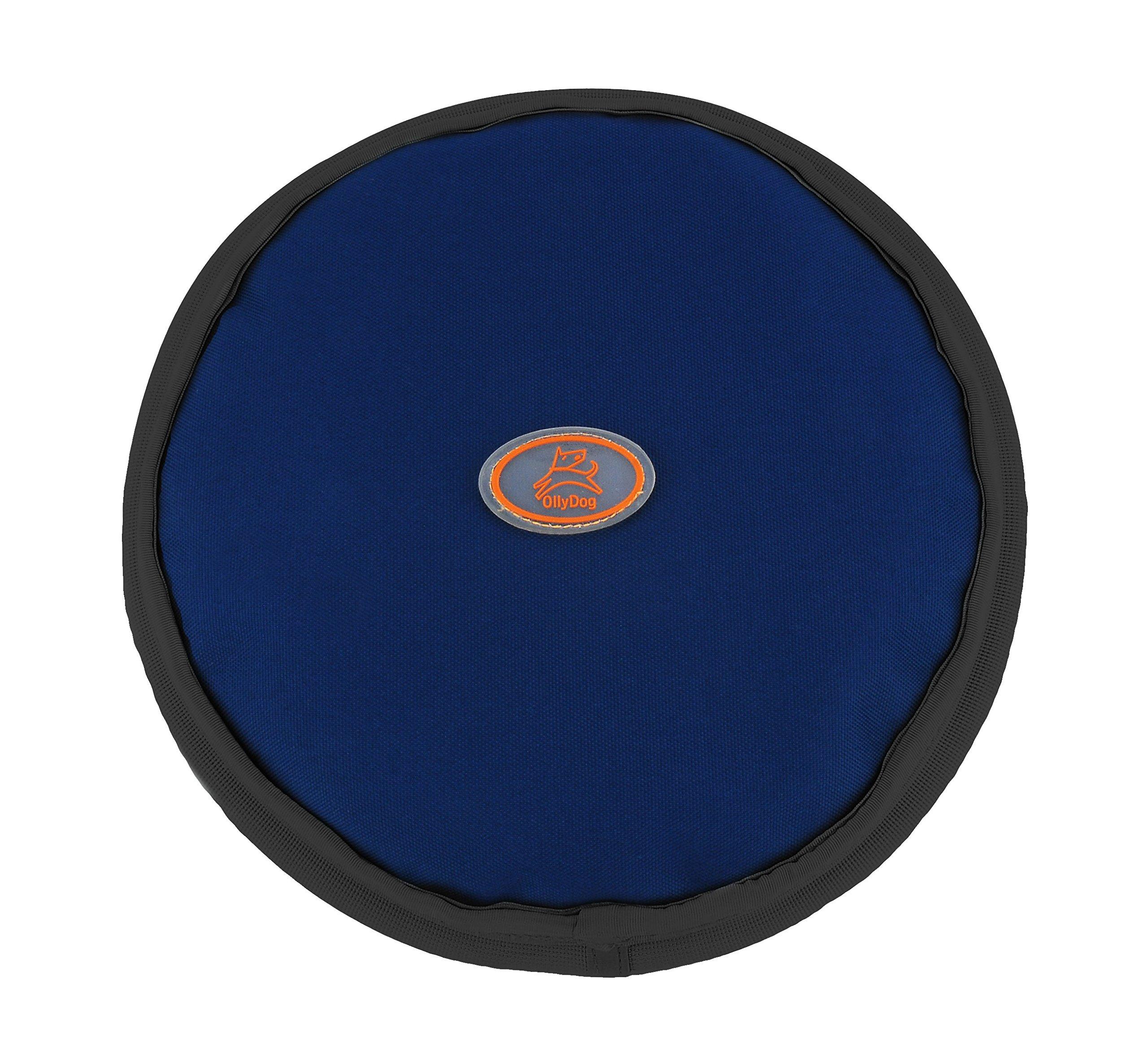 OllyDog OllyFlyer Flying Disc, Large, Navy