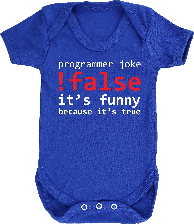Short Sleeve Boys Girls Hippowarehouse Programmer Joke !False Baby Vest Bodysuit