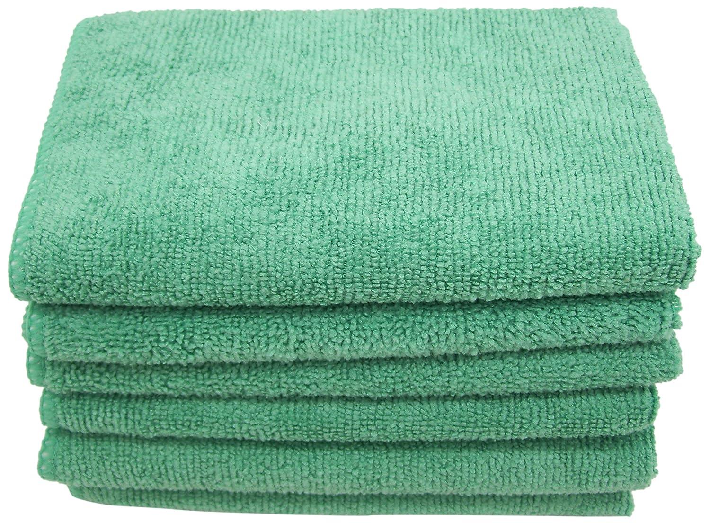 DeRoyal M12200G-12A Microfiber Cleaning Cloth 12X12 Green