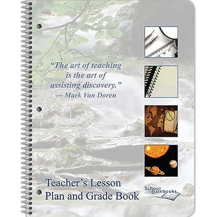 amazon com teacher lesson plan and grade book 8 5 x 11 undated