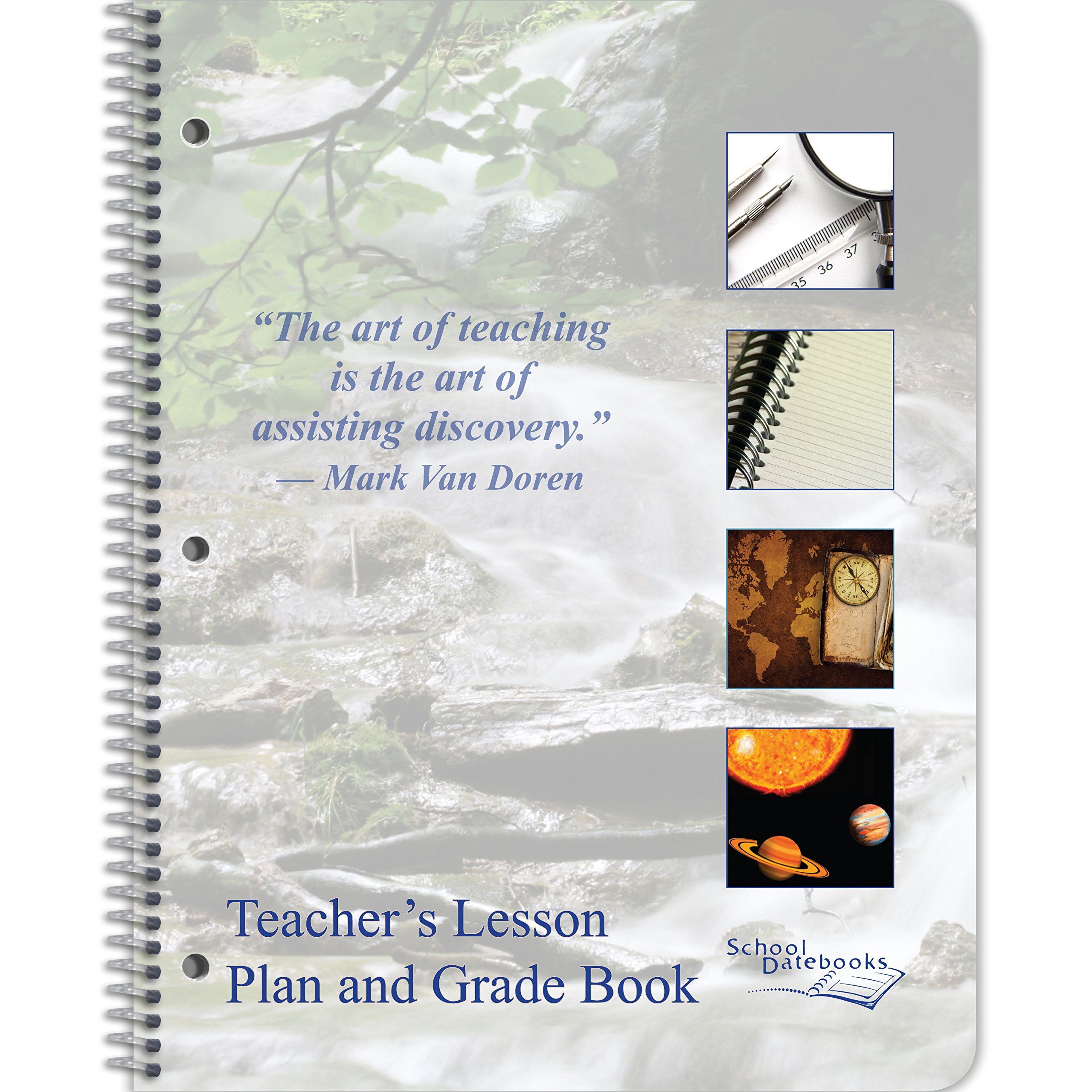 Teacher Lesson Plan and Grade Book 8.5'' x 11'' - Undated - Designed by Teachers!