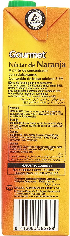 Gourmet - Néctar de Naranja - A partir de concentrado con edulcorantes - 1 l: Amazon.es: Alimentación y bebidas