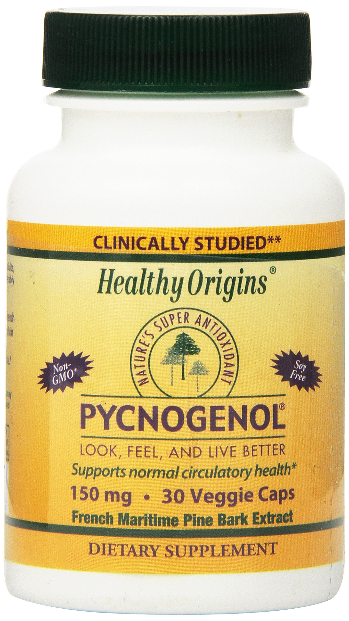 Healthy Origins Pycnogenol (Nature's Super Antioxidant) 150 mg, 30 Veggie Caps