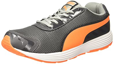 Puma Men's Ridge Asphalt-Shocking Orange-Silver Running Shoes - 10 UK/India