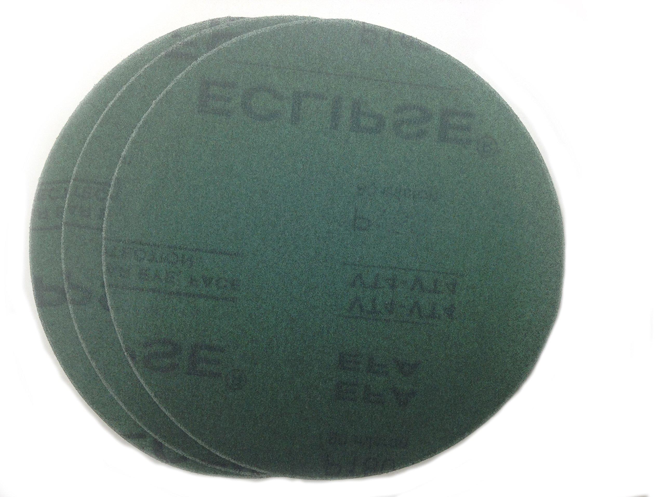 Sungold Abrasives 07874 Eclipse Film Hook & Loop Sanding Discs For Gem Sanders 60 Micron Bulk 20 Pack, 11-1/4'',