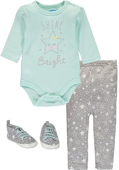 6797c3d300 Amazon.com: Bon Bebe Baby Girls' 3-Piece Shoe Pant Set (0-3 Months ...