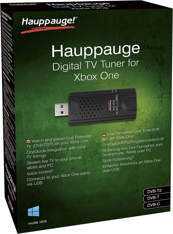 Hauppauge Sintonizador Xbox One con WIN10 Freeview HD, lápiz USB, Color Negro: Amazon.es: Informática