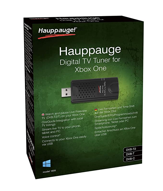 Hauppauge Sintonizador Xbox One con WIN10 Freeview HD, lápiz USB, Color Negro: Amazon.es: Informática