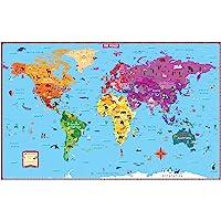 Kids' Illustrated World Wall Map Folded