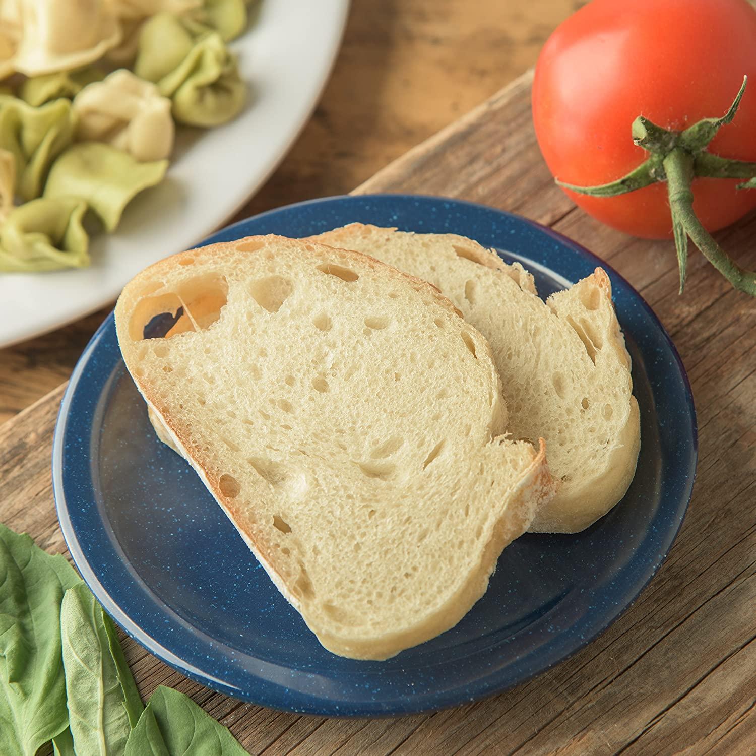 Case of 48 Carlisle 4350535 Dallas Ware Melamine Bread and Butter Plate Cafe Blue 0.66 x 5.58 Carlisle FoodService Products 43505-35 0.66 x 5.58