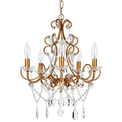 Theresa vintage gold crystal chandelier 5 light swag plug in glass theresa vintage gold crystal chandelier 5 light swag plug in glass pendant wrought iron aloadofball Image collections