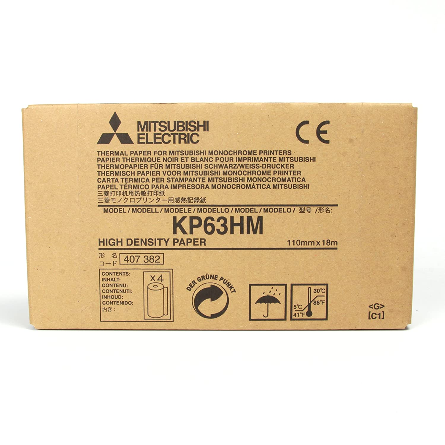 Mitsubishi KP63HM High Density Thermal Paper for P95 and P93 printers
