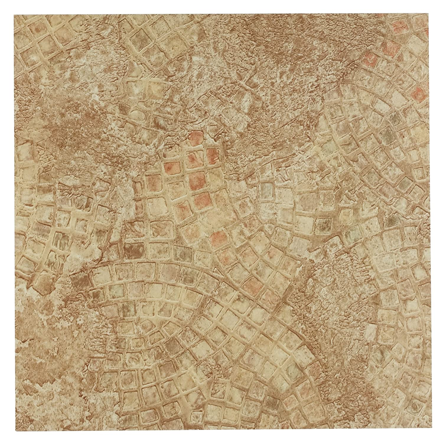 Achim Home Furnishings FTVGM32920 Nexus 12-Inch Vinyl Tile, Geo Ancient  Beige Mosaic,