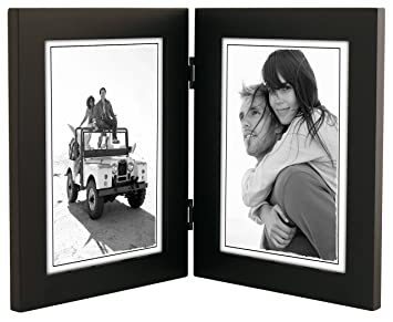 malden international designs linear classic wood picture frame double vertical 2 5x7